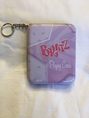 Bratz Doll Playing Cards In Tin With Keychain