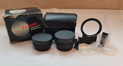 Imado Telephoto & Wide Angle Auxiliary Lens Set + Adapter & Finders Canon