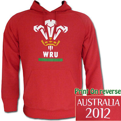 Wales Rugby Union 2012 Tour Hoodie  Size 3XL **SALE PRICE**