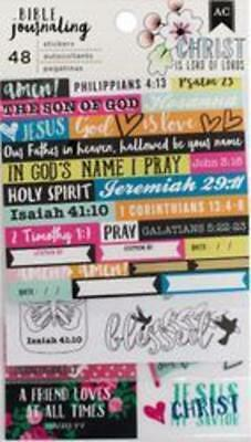 American Crafts Bible Journaling Sticker Set: Edgy 48 Faith Stickers