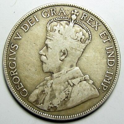 1913 Canada Silver 50 Cents