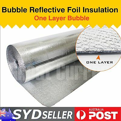 40 x 1.2M Home Shed Attic Roof Insulation Shield Single Bubble Cell Foil H Duty