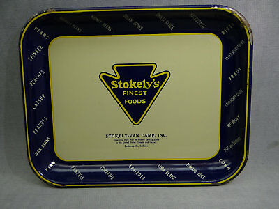 Stokely's Finest Foods Vintage Advertising Tray Indianapolis Indiana Serving
