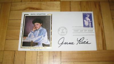 Autographed Anne Rice  Author  original First Day Of Issue envelope