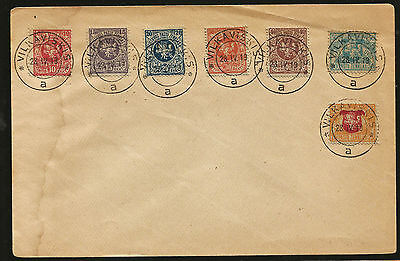 1918 Lithuania White Knight Vytus Stamps Cover Postmarked Vilkaviškis 28 4 19