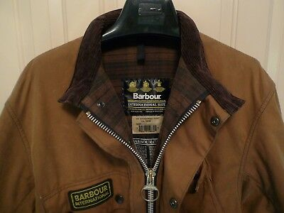 Barbour- A10 International Waxed Cotton  Jacket & Belt- Rare-Made In Uk-Size 48