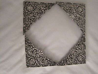 Sterling Silver Blotter Corners Very Large Hallmarked