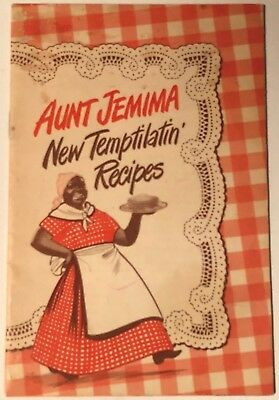 AUNT JEMIMA'S NEW TEMPTILATIN' RECIPES VINTAGE 18 page PANCAKE MIX BOOKLET, USED