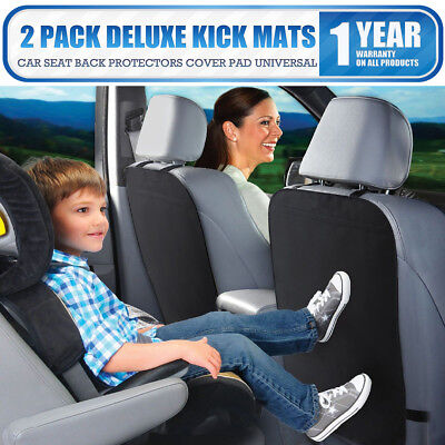 NEW Deluxe Black Kick Mats (2 Pack) Car Seat Back Protectors Cover Pad Universal