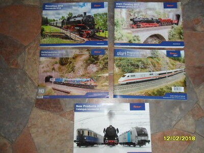 Roco catalogues group of 5. all new