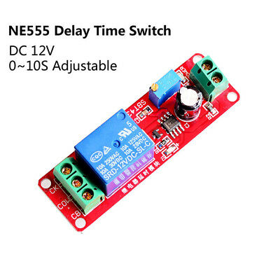 DC 12V 0 To 10 Second Turn-on/off Delay Module Timer Switch NE555 Relay Shield