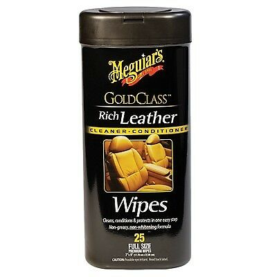 MEGUIARS - Gold Class Leather Wipes *25 Wipes Per Pack* #G10900