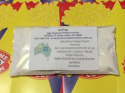 100 Grams Genuine Cinema style Salt and Vinegar Popcorn Flavouring!