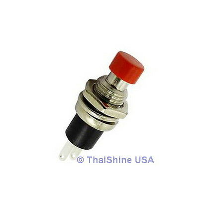 3 x MOMENTARY PUSH BUTTON SWITCH DC 50V 0.5A RED KNOB - USA SELLER - Free Ship