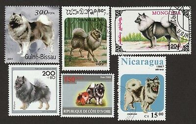 KEESHOND ** Int'l Dog Postage Stamp Collection ** Unique Gift*