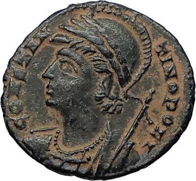 CONSTANTINE I the GREAT Founds Constantinople Original Ancient Roman Coin i67014