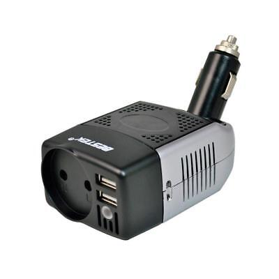 Auto Power Inverter 12V To 220V EU Plug And Two USB Ports For iPhone Car Charger