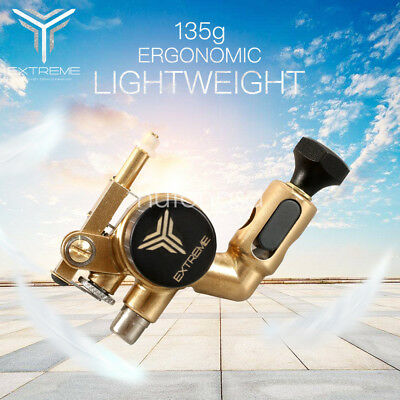 Tattoo Rotary Machine Brass Frame CNC Machine RCA Connected for Tattoo Artists