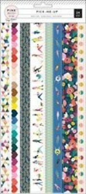 Pink Paisley - Paige Evans - Pick Me Up Washi Strips  304mm in length Bright