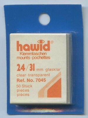 Hawid Mounts 24/31 mm (7045) pack of 50 Clear Mounts New Sealed FREE UK P&P