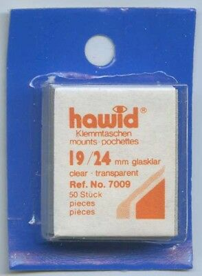 Hawid Mounts 19/24 mm (7009) pack of 50 Clear Mounts New Sealed FREE UK P&P