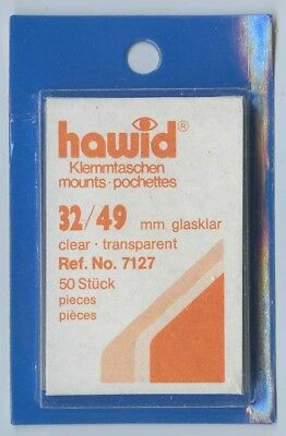 Hawid Mounts 32/49 mm (7127) pack of 50 Clear Mounts New Sealed FREE UK P&P