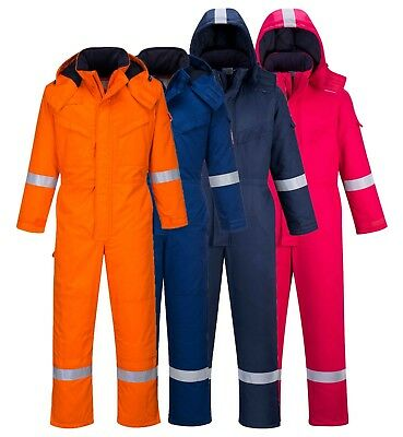 PORTWEST FR Anti-Static Winter Coverall Flame Resistant Cold Welding Safety FR53