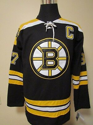 Boston #37 SIZE 48/MED Embroidered Ice Hockey Supporters Jersey