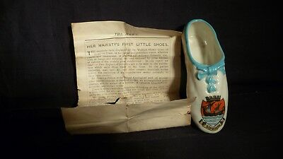 Goss China Queen Victoria's First Shoe With Leaflet - Sidmouth