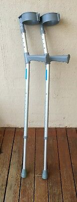 Adjustable elbow support crutches. As new condition Sunrise medical P/L BE 1267