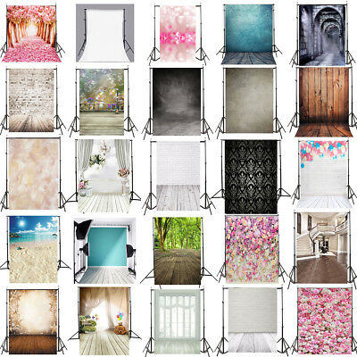 5X7FT Vinyl Wood Wall Photography Studio Backdrop  Background Valentine's Day