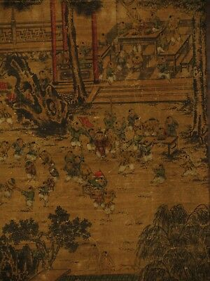 Vintage Chinese Old Scroll Handwork Painting