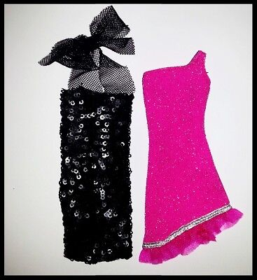 Barbie Doll Clothes SET OF 2 Dresses/Wedding/Party/Evening /Clothes/Outfit/NEW