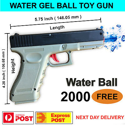 UPGRADED Manual Glock G18 Water Gel Ball Gun Toy Blaster Pistol 100% AU STOCK