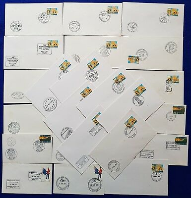 1992/3 Malta Special Hand Stamp Cancellations SHC - 24 Covers Consecutive Events