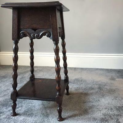 Antique Solid Wood Small Occasional Table / Plant Stand / Lamp Stand - Excellent