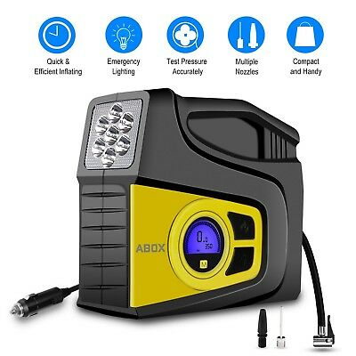 Digital Tire Inflator, 2018 Newest GooBang Doo ABOX Portable Car Tire Air Compre