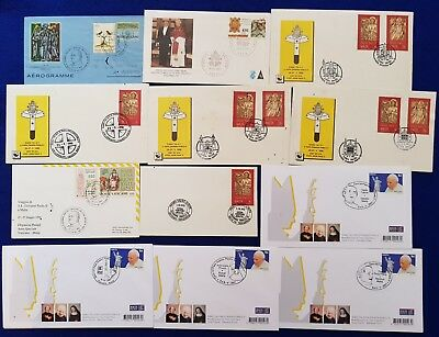 1990-2001 Pope's visits Covers + Special Papal Hand Cancellations & Events