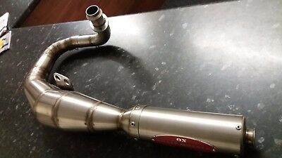 Vespa P125E PX125 LML 125 150 Stainless Left Hand Exhaust Performance Type OSW