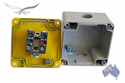 Metal Emergency Stop x5, switch electrical 12V 24V safety-e-stop telemecanique.
