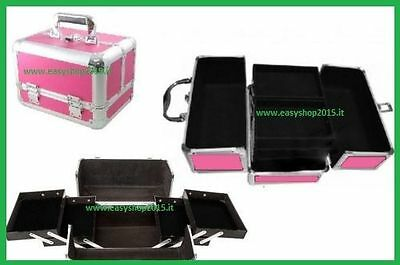 Valigetta Nail Art Make Up Cofanetto Beauty Case Porta Trucco Borsa Parrucchieri