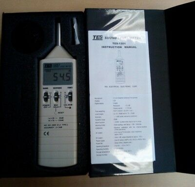 TES-1350A Sound Level Meter,Noise Tester Gauge Noise Tester (35-130DB)