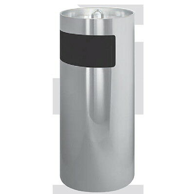 Ashtrays Waste Basket Round Metal Lacquered Stainless Steel