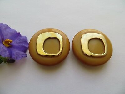 Rare 1960s Vintage Med 'Futuristic' MOD Mustard Yellow Coat Dress Buttons-27mm