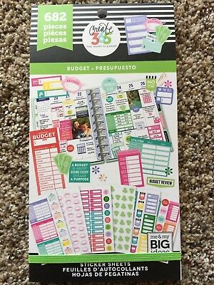 Create 365® The Happy Planner® Sticker Sheets, Budget 682 NEW