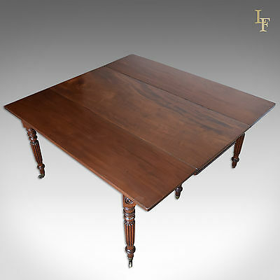 Antique Dining Table, 8 Seater Regency Drop Flap, Mahogany, C.1820