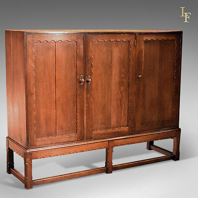Antique Oak Larder Cabinet, Arts & Crafts, Liberty Quality, Cupboard c.1900