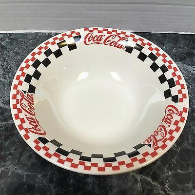 """Coca Cola Gibson Brand 1996 Ceramic 8"""" Wide Cereal / Soup Bowl 2.25"""" Tall"""