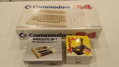 Commodore C64 (immaculate)+Zip Stick (like new)+Datassette Unit (new old stock)