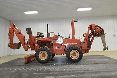 99 Ditch Witch 8020T Turbo Vibratory Plow Backhoe 6 Way Backfill Blade 506 HRS